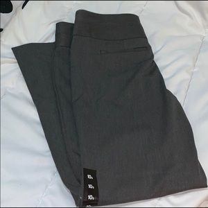 NWT - Express Editor flare in grey 10s - work ware